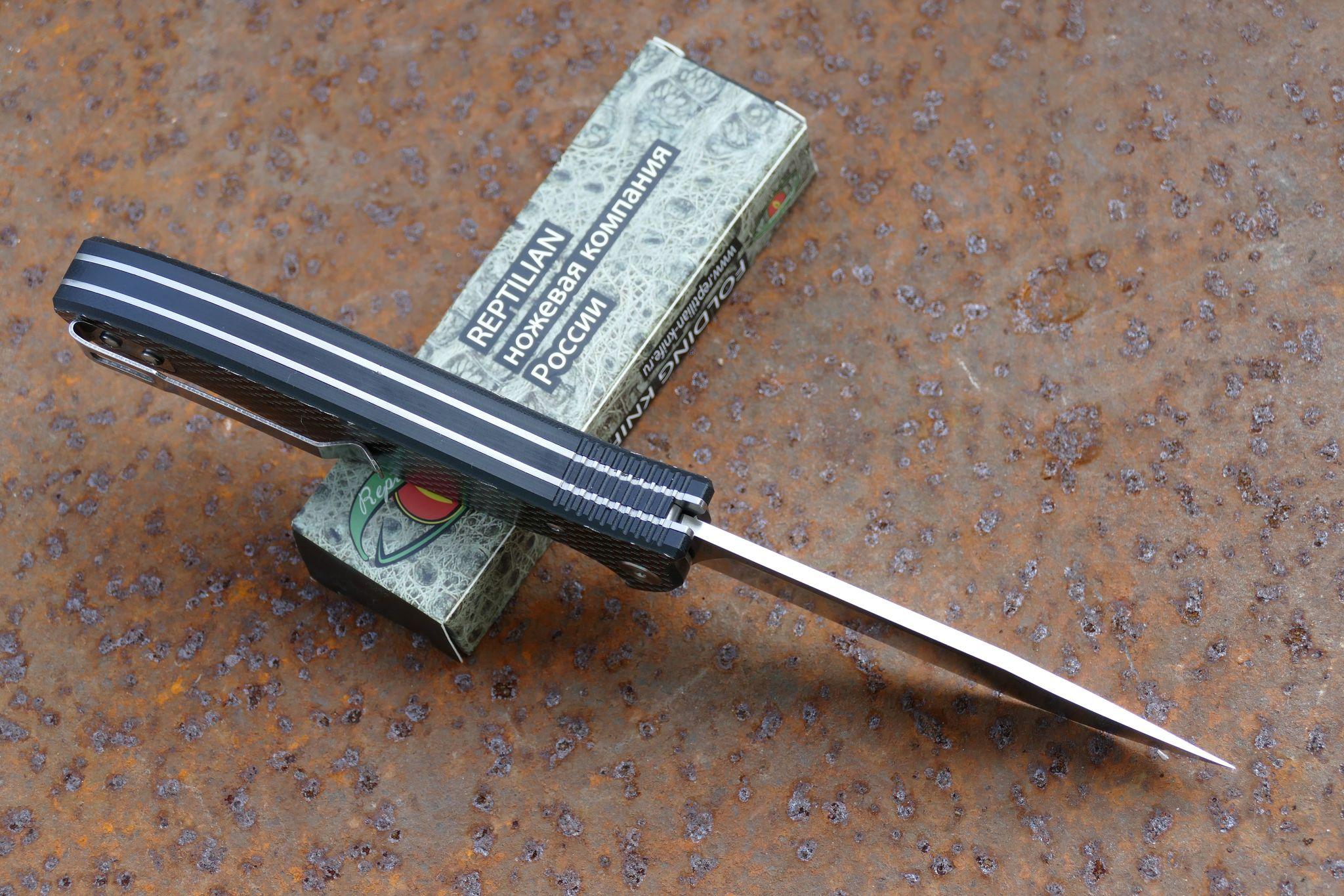 Фото 3 - Складной Нож Разведчика, карбон красный от Reptilian