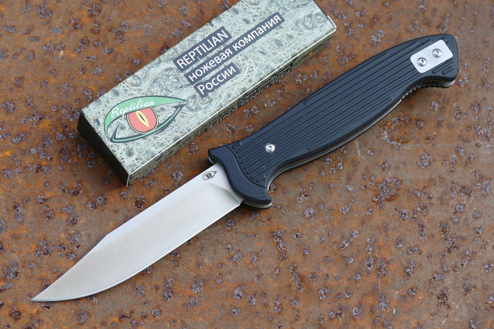 Складной Нож РазведчикаРаскладные ножи<br>марка стали: D2твёрдость: HRC60-61длина общая: 255ммдлина клинка: 113ммширина клинка наибольшая: 25ммтолщина обуха: 3.5ммвес: 217гр<br>