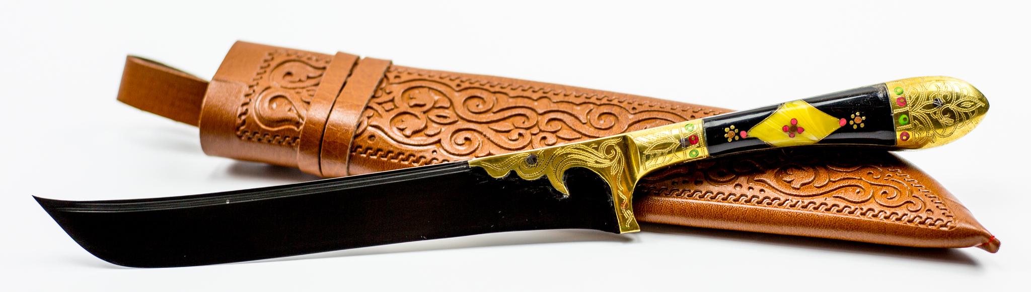Пчак Элитный , узорная гардаУзбекские ножи Пчак<br>Узбекский универсальный нож Пчак.<br>
