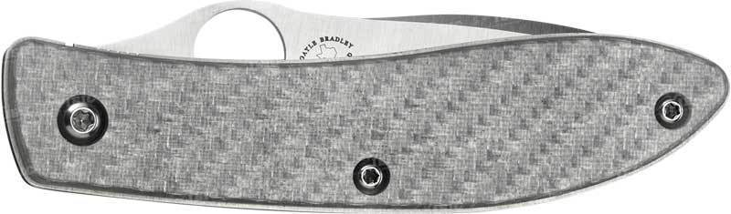Фото 5 - Нож складной Air™ (дизайнер Gayle Bradley) Spyderco 159GFP, сталь CPM-M4 Satin Plain, рукоять термопластик/титан серый