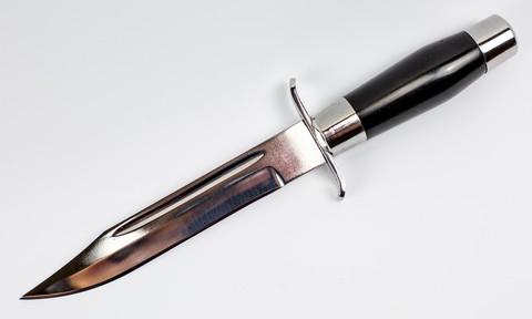 Нож Блокадник, черный, хромированный - Nozhikov.ru