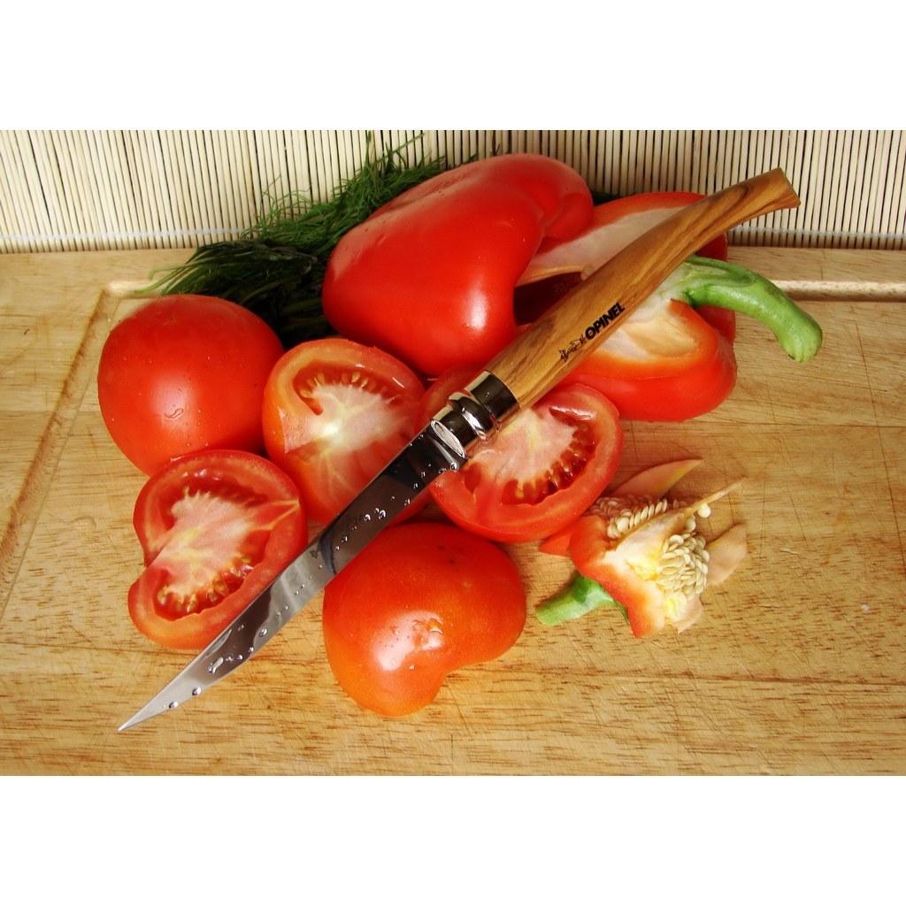 Фото 3 - Нож складной филейный Opinel №10 VRI Folding Slim Olivewood в деревянном кейсе, сталь Sandvik 12C27, рукоять из оливкового дерева, 001090