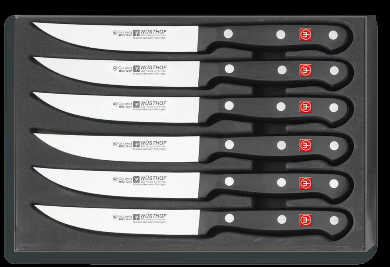 Фото - Набор кухонных ножей для стейка 6 шт. 9728, серия Gourmet от Wuesthof