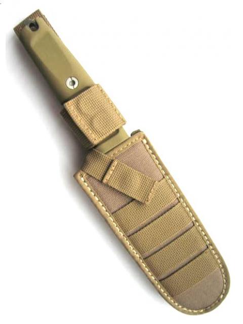 Полевой поварской нож Kato 15 Desert CamoРыбаку<br>Полевой поварской нож Kato 15 Desert Camo, клинок камуфляж коричневые полосы, сталь N690(58HRC), рукоять коричневый forprene, стеклобой, чехол нейлон.<br>