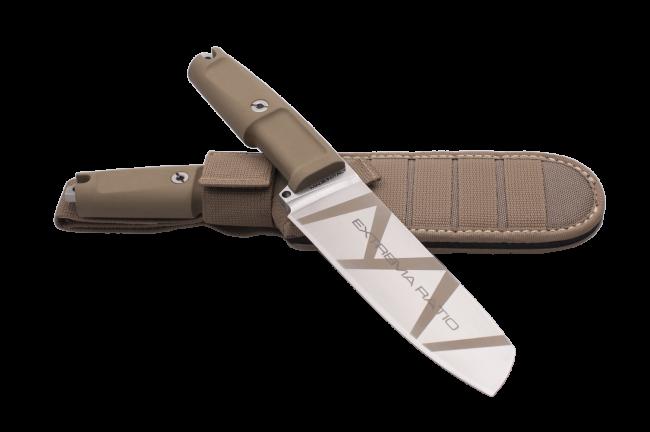 Нож Пластун, сталь Х12МФ, латунь
