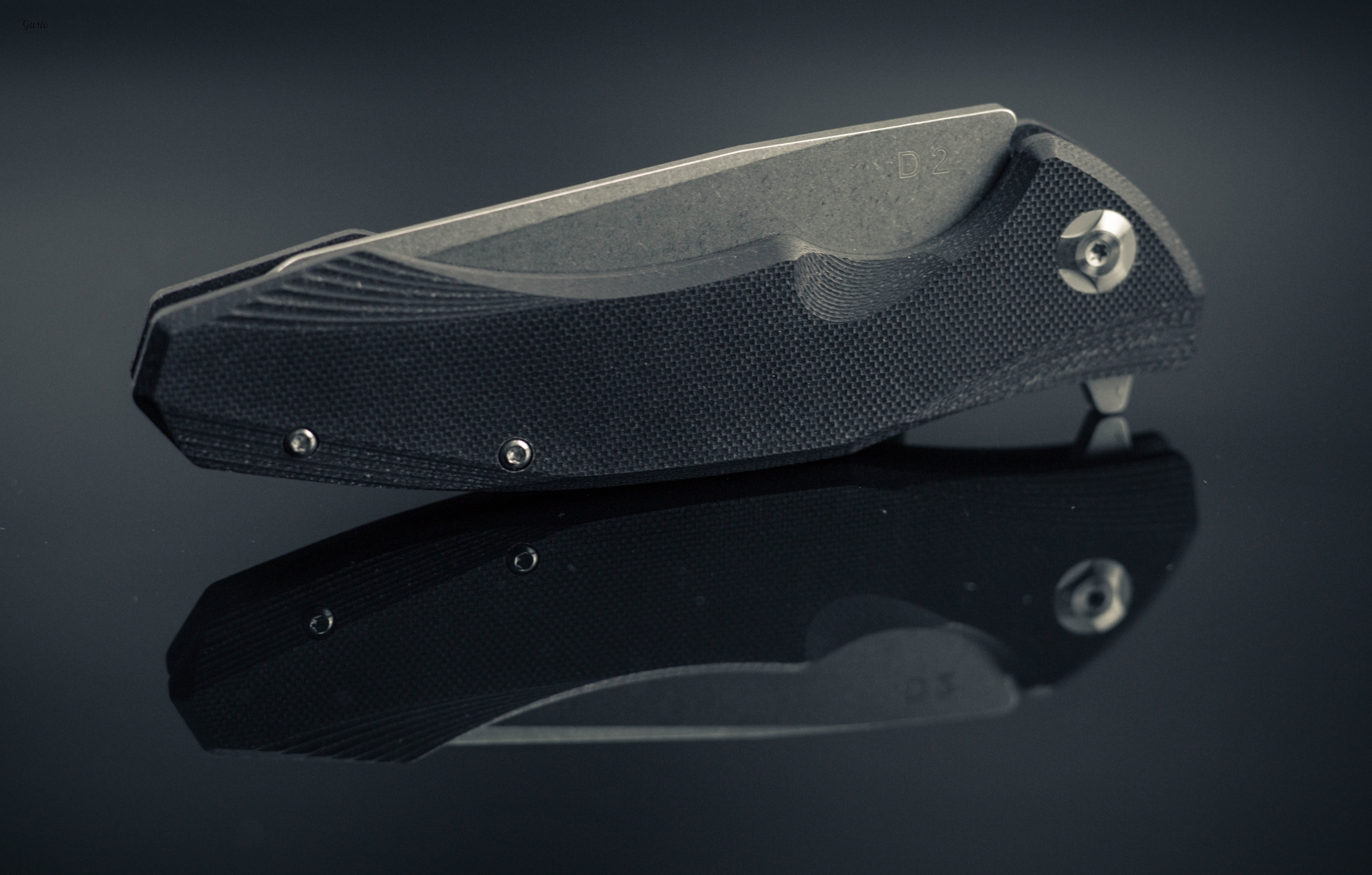 Фото 4 - Складной нож Junior Black, сталь D2