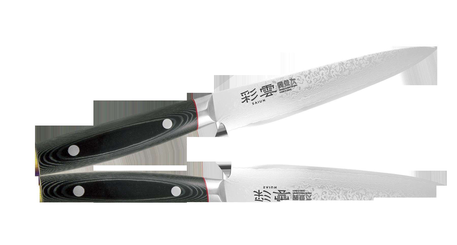 """Нож для тонкой нарезки Kanetsugu Saiun Damascus 210 мм, сталь VG-10 от Магазин ножей """"Ножиков"""""""