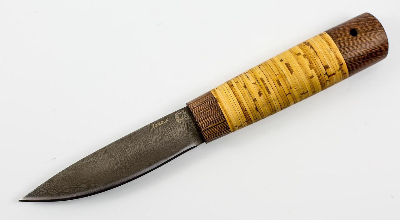 Нож Якутский средний, дамаск