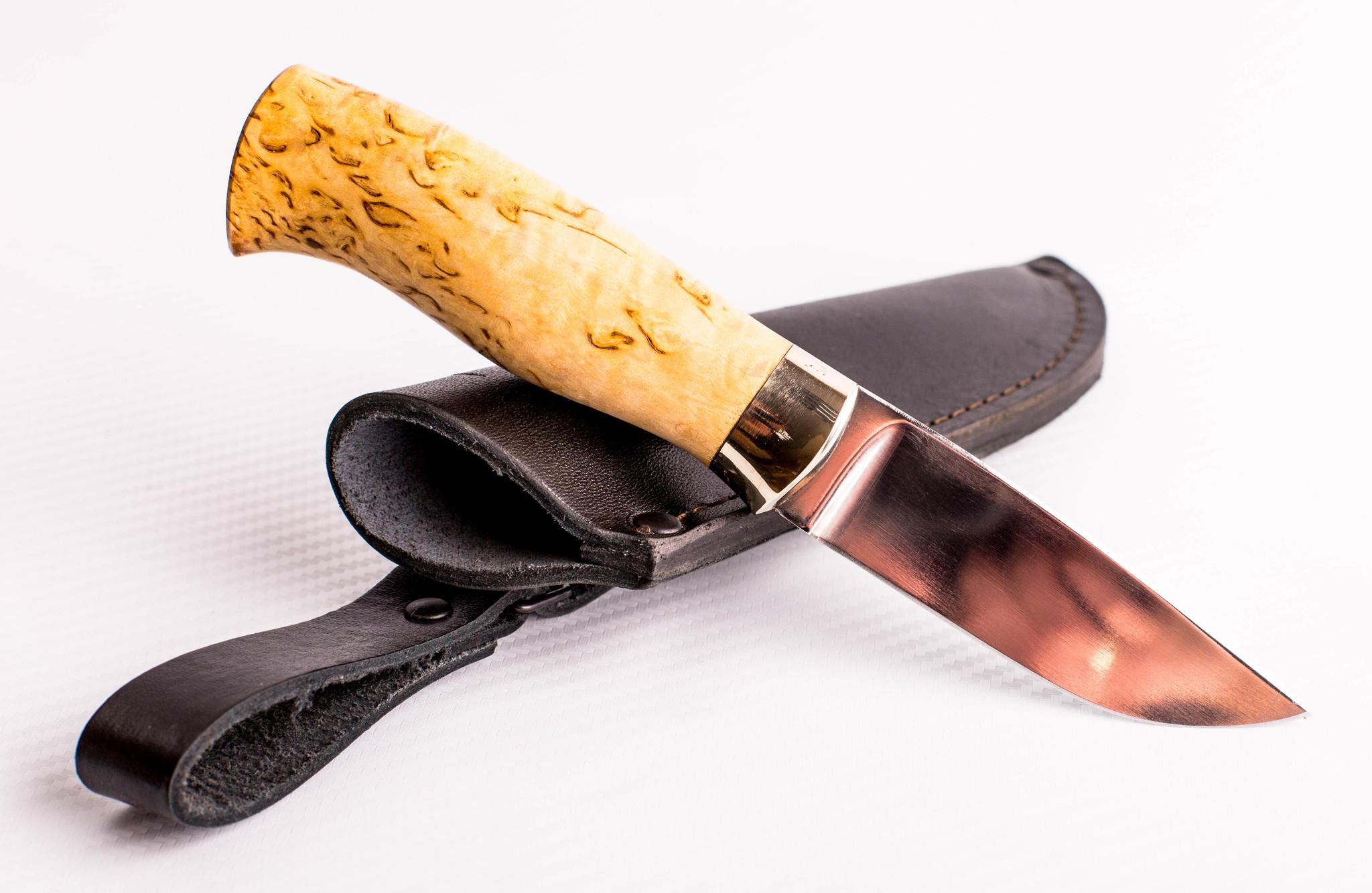Фото 6 - Нож МТ-66, сталь 95x18, карельская береза