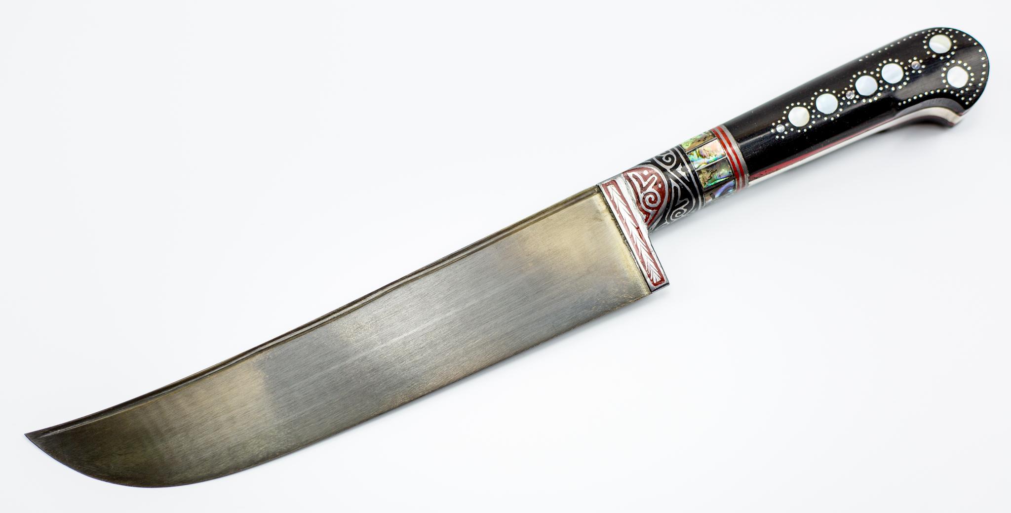 Пчак Ерма с садафом , ручка эбонитУзбекские ножи Пчак<br>Узбекский универсальный нож Пчак.<br>