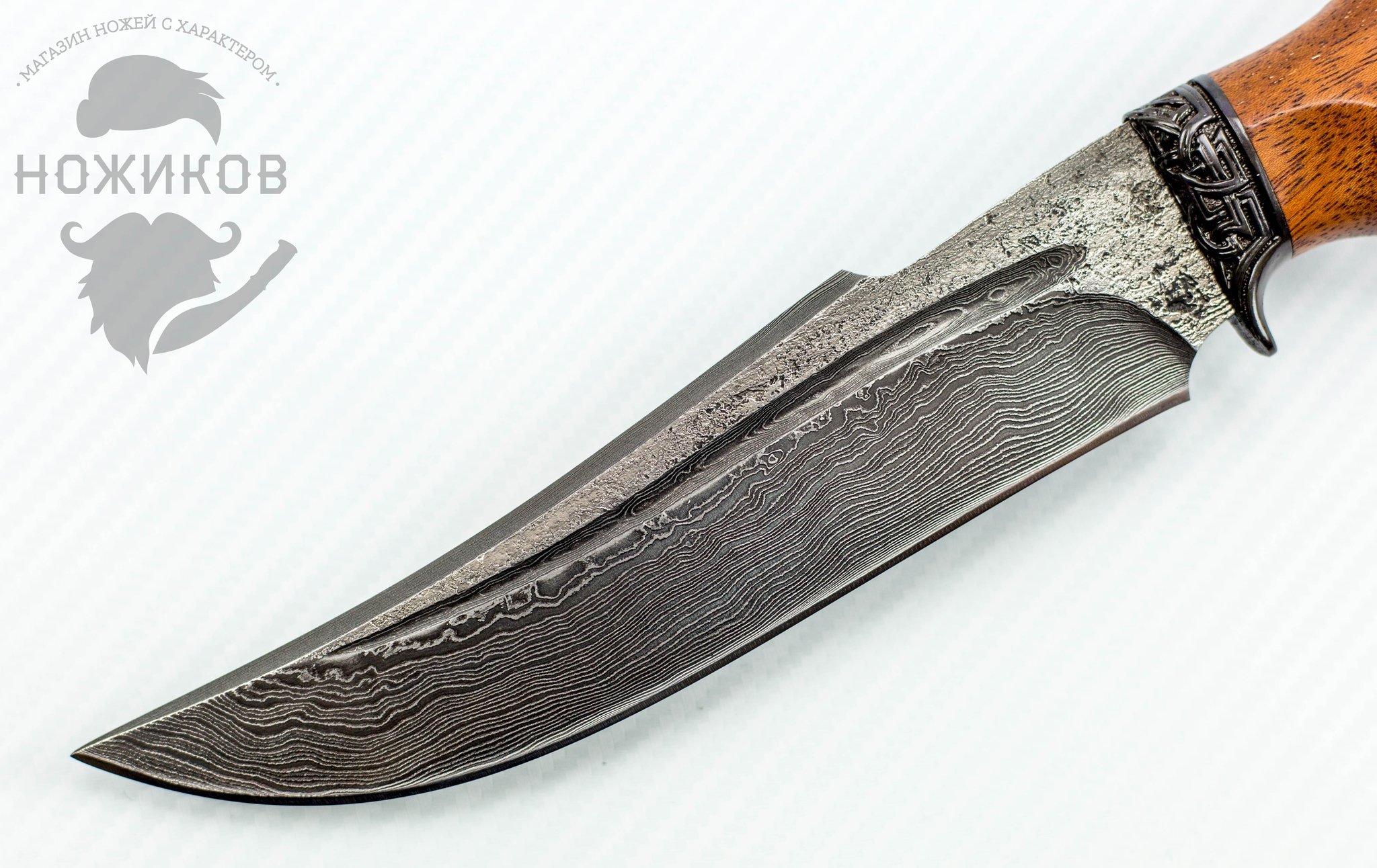 Фото 2 - Авторский Нож из Дамаска №82, Кизляр