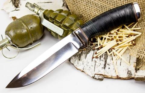 Нож Кубанец, сталь 95х18, кожа - Nozhikov.ru