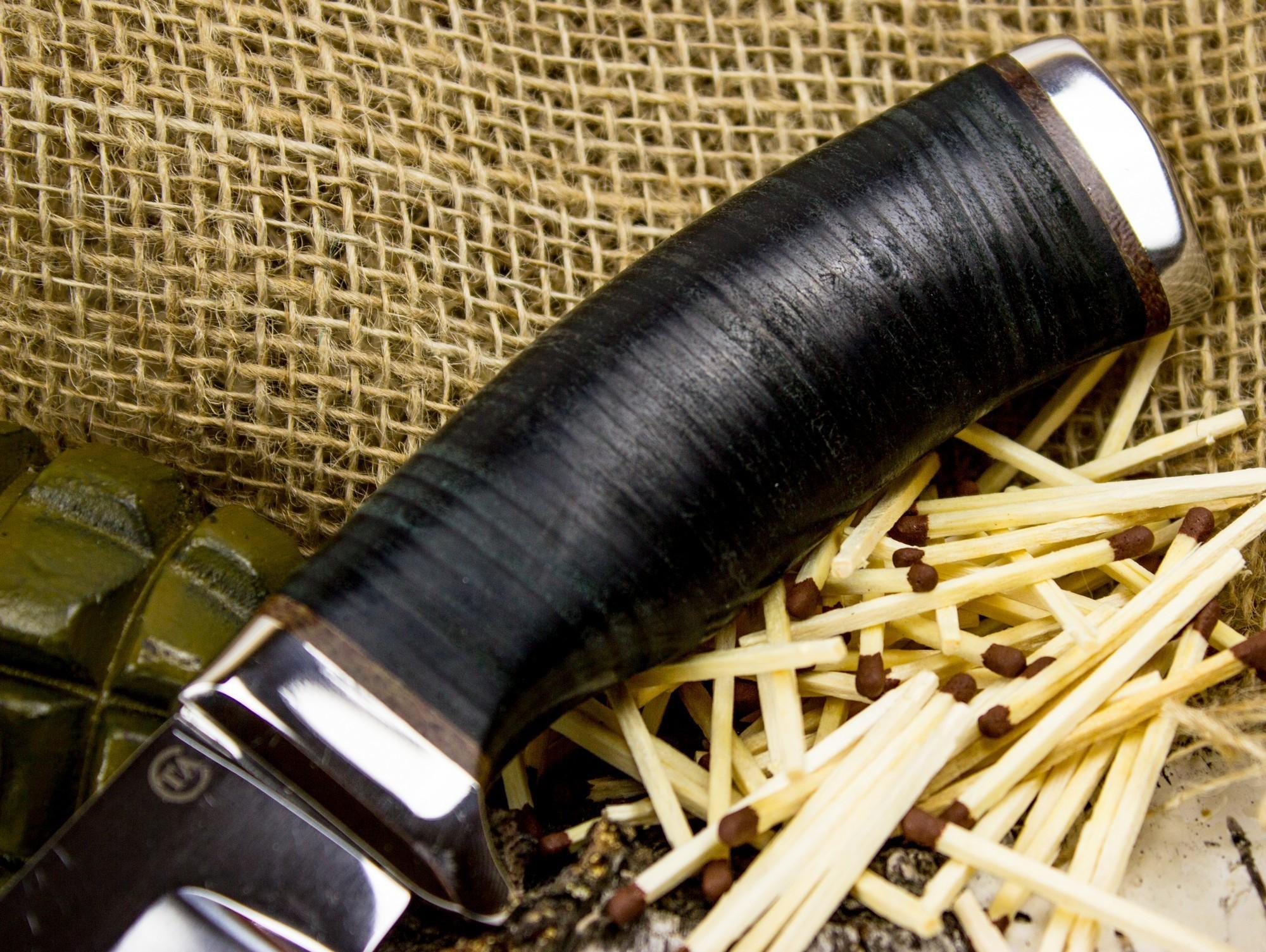 Фото 2 - Нож Кубанец, сталь 95х18, кожа от Титов и Солдатова