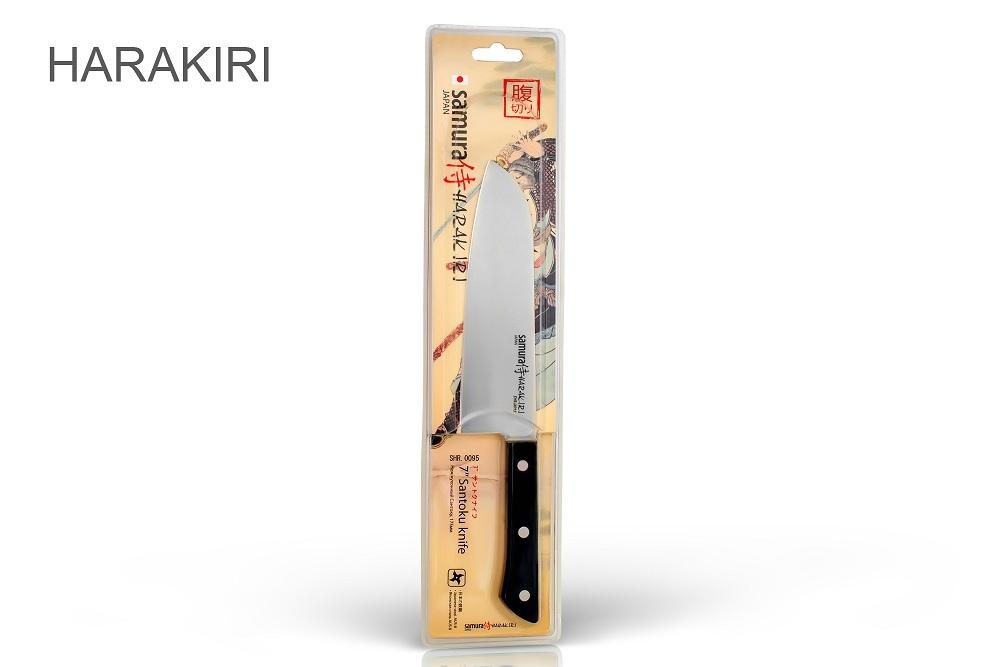 """Нож кухонный Сантоку, 175 мм, Samura """"Harakiri"""" (SHR-0095B)"""