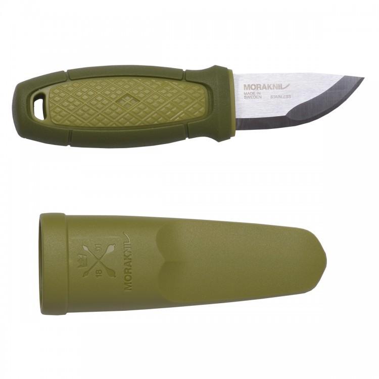 Нож Morakniv Eldris, нержавеющая сталь, зеленый