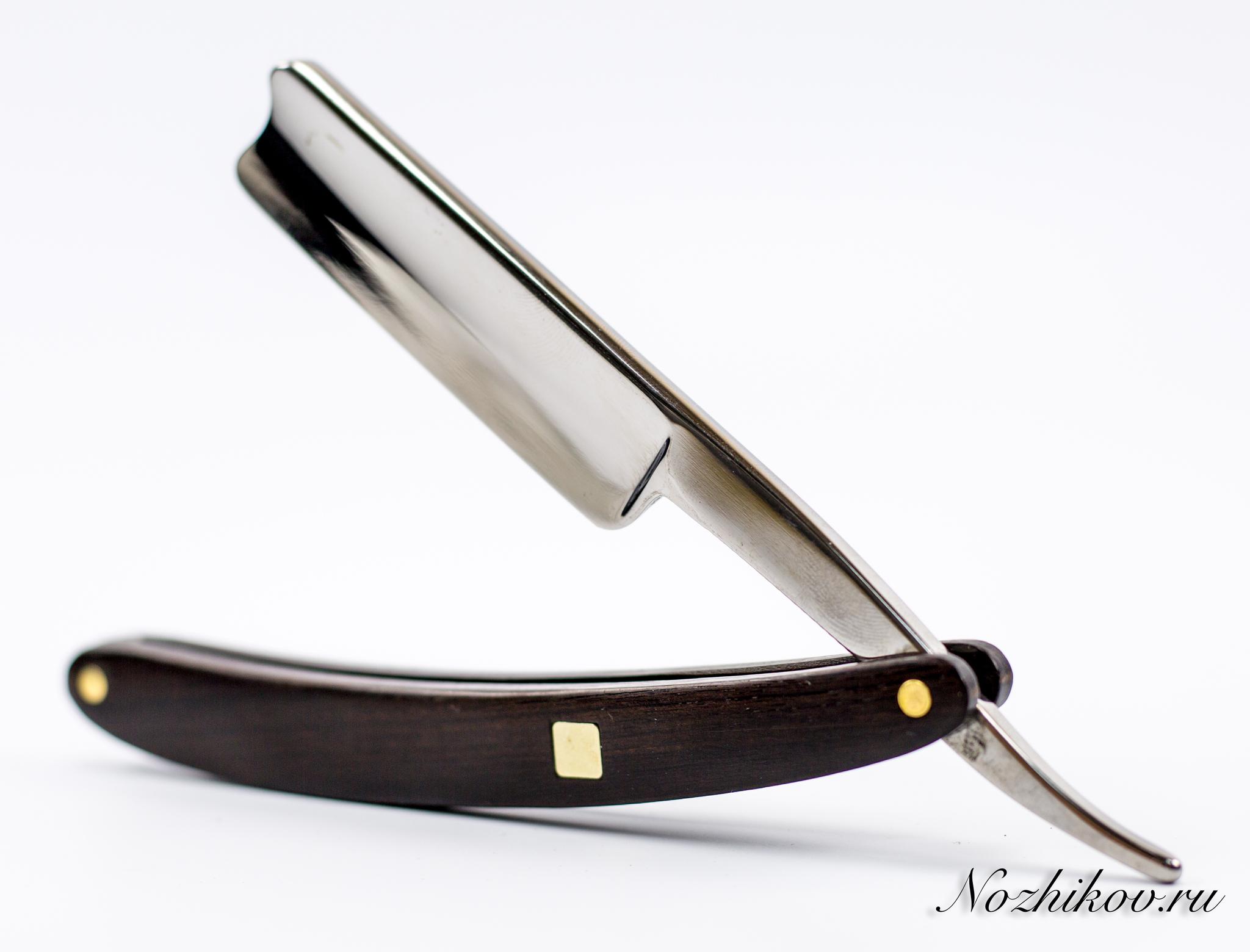 Опасная бритва Barber420<br>Oбщая длина- 260 мм Длина клинка- 110 мм Толщина клинка- 4,0 Сталь- 420Рукоять- дерево<br>