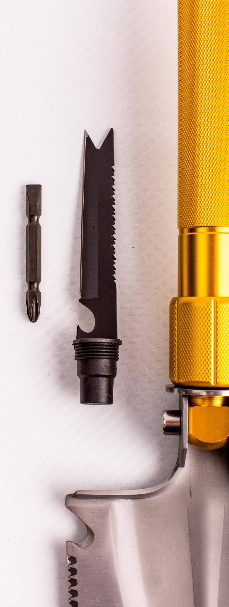 Фото 9 - Многофункциональная лопата, золотистая рукоятка от Noname