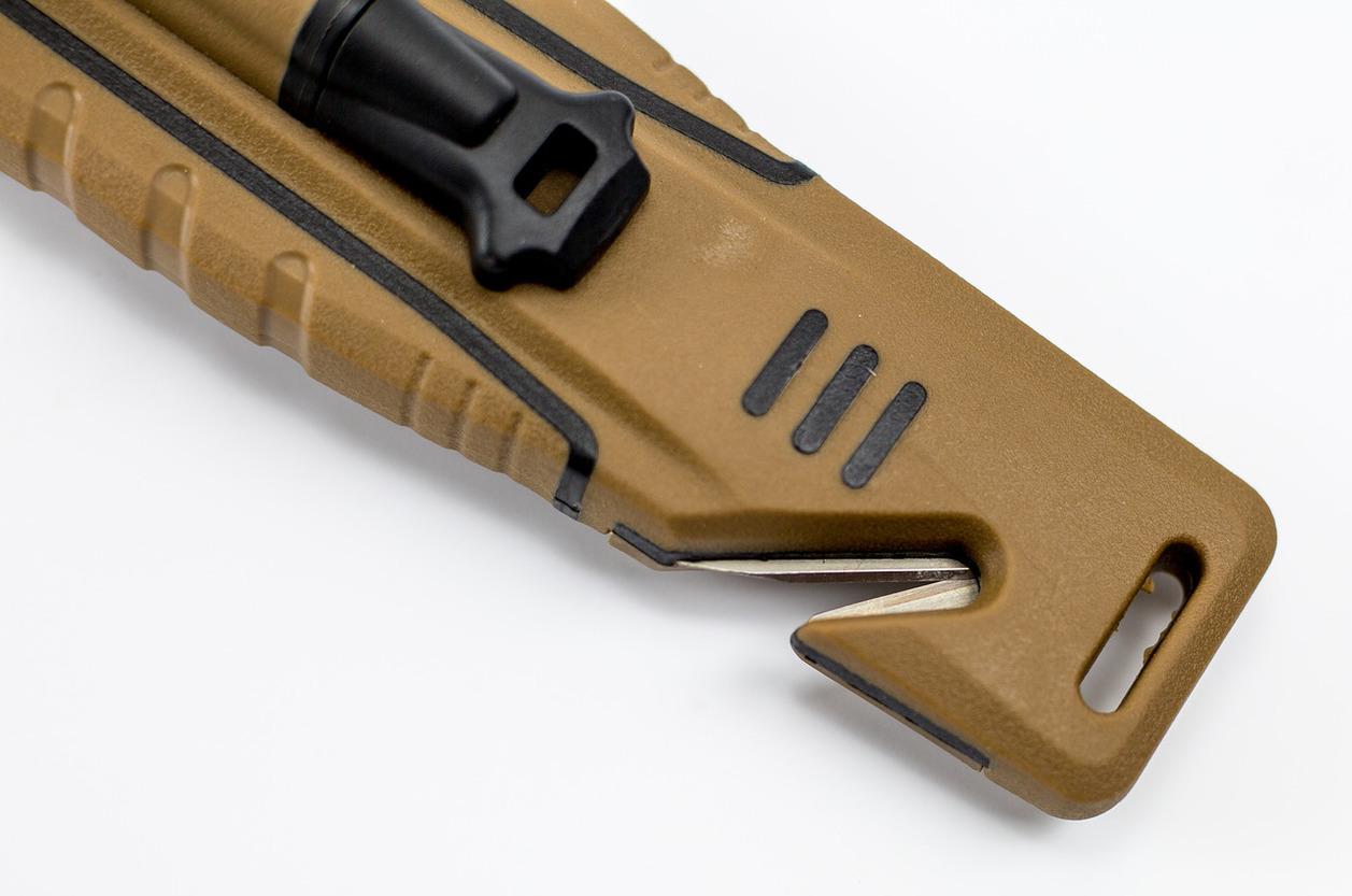 Фото 5 - Нож для выживания Ganzo G8012, коричневый