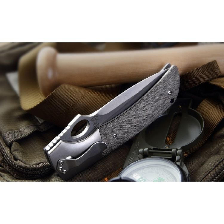 Фото 2 - Складной нож Boker Plus Squail 01BO310, сталь 440C, рукоять микарта