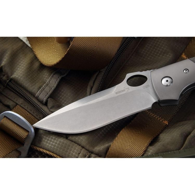 Фото 3 - Складной нож Boker Plus Squail 01BO310, сталь 440C, рукоять микарта