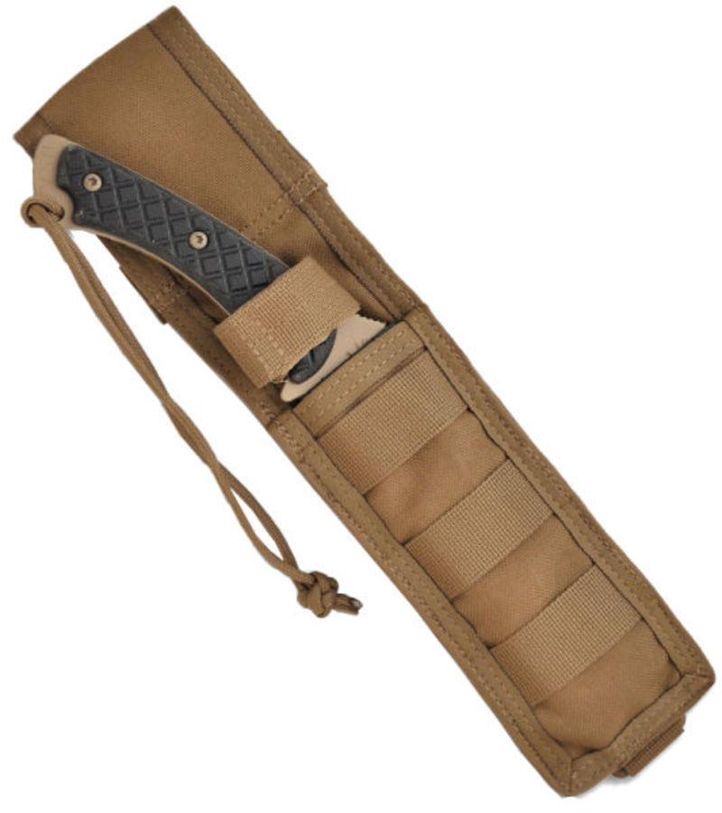 Нож с фиксированным клинком Horkos (Flat Dark Earth/Black Micarta/Coyote Tan Sheath) 14.5 см.