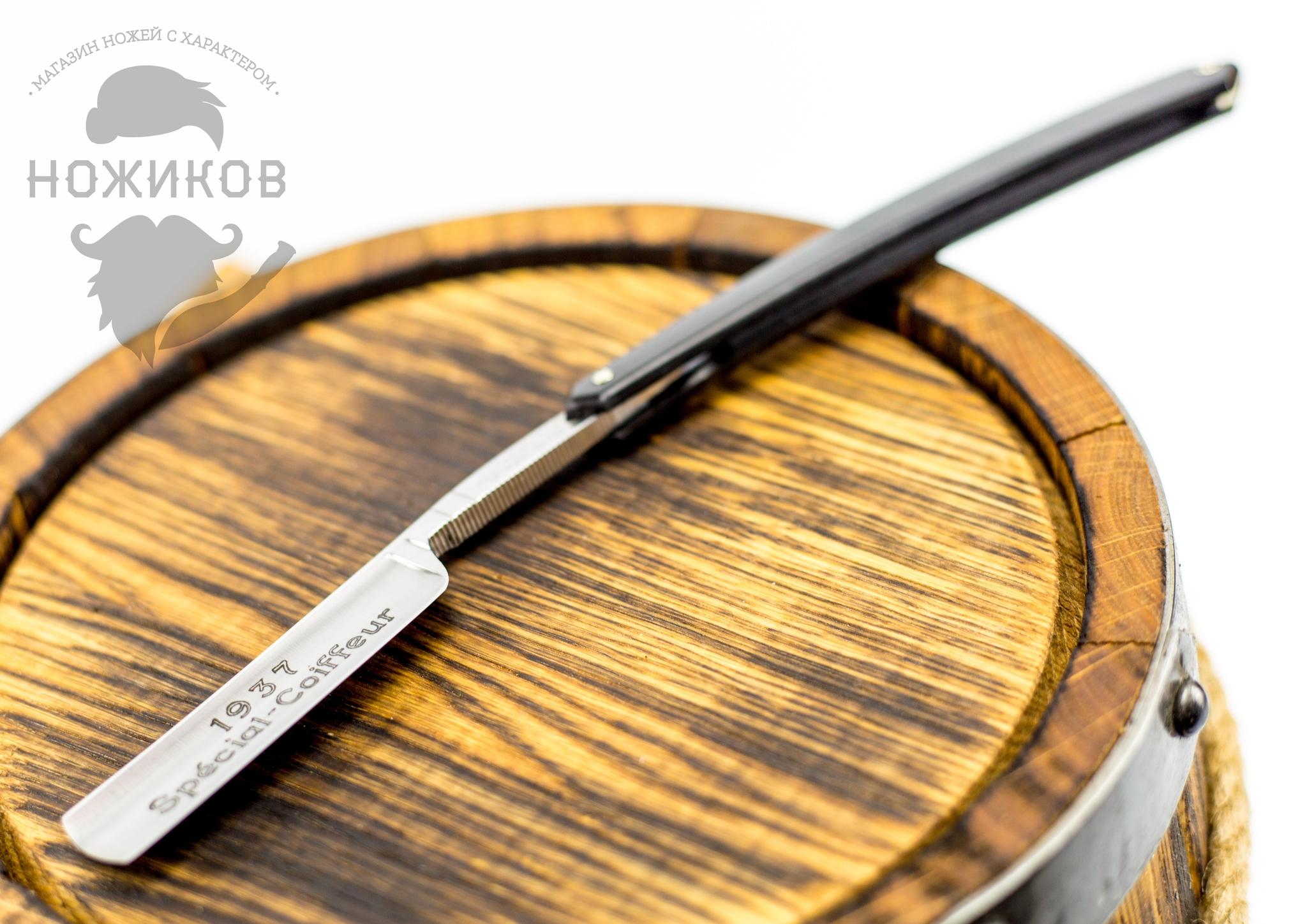 """Опасная бритва Razor 5/8 275 Special Coiffeur Black Plastic от Магазин ножей """"Ножиков"""""""