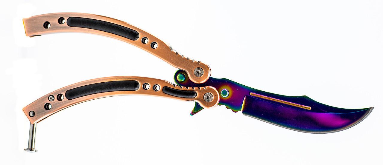 Фото 8 - Нож-бабочка (балисонг) CS GO Gradient от Noname