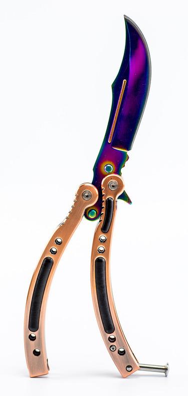 Фото 9 - Нож-бабочка (балисонг) CS GO Gradient от Noname