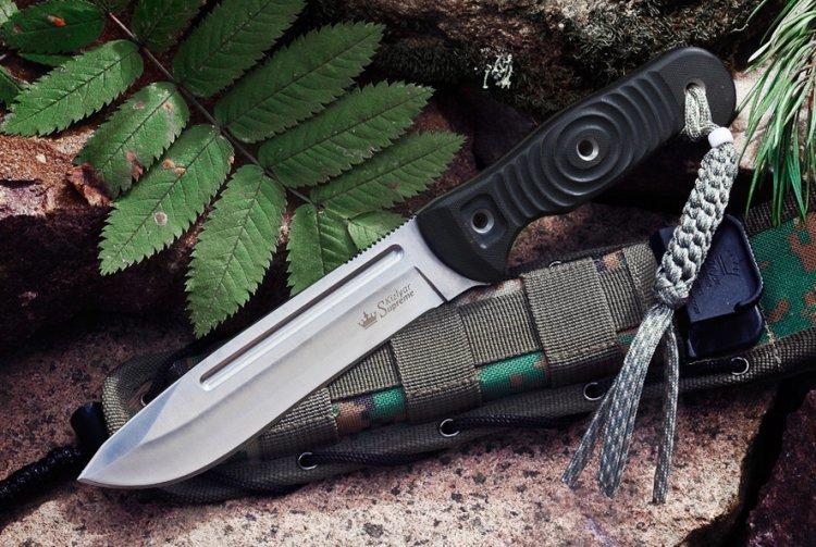 Нож Maximus AUS-8, SatinНожи Кизляр<br>Характеристики:Полная длина 272Длина клинка 143Толщина клинка 3,95Ширина клинка 31Длина рукояти 129Толщина рукояти 18,3Материал клинка AUS-8Обработка клинка SatinТвердость 57-59 HRCМатериал рукояти G10Комплектация Нож, чехол с многофункциональным креплением Molle, темляк, подарочная упаковкаПожизненная гарантия от заводских дефектов<br>