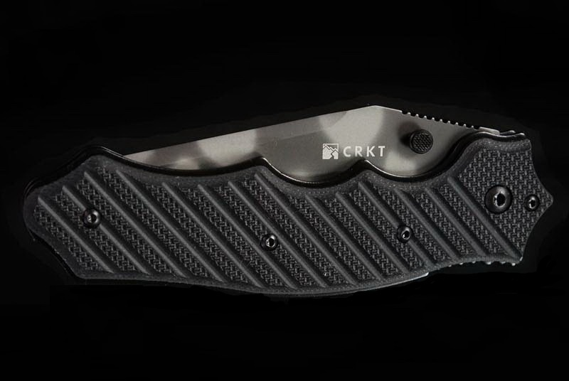 Фото 3 - Складной нож CRKT 1030TS Triumph, сталь AUS-8 Tiger Stripe, рукоять стеклотекстолит G10