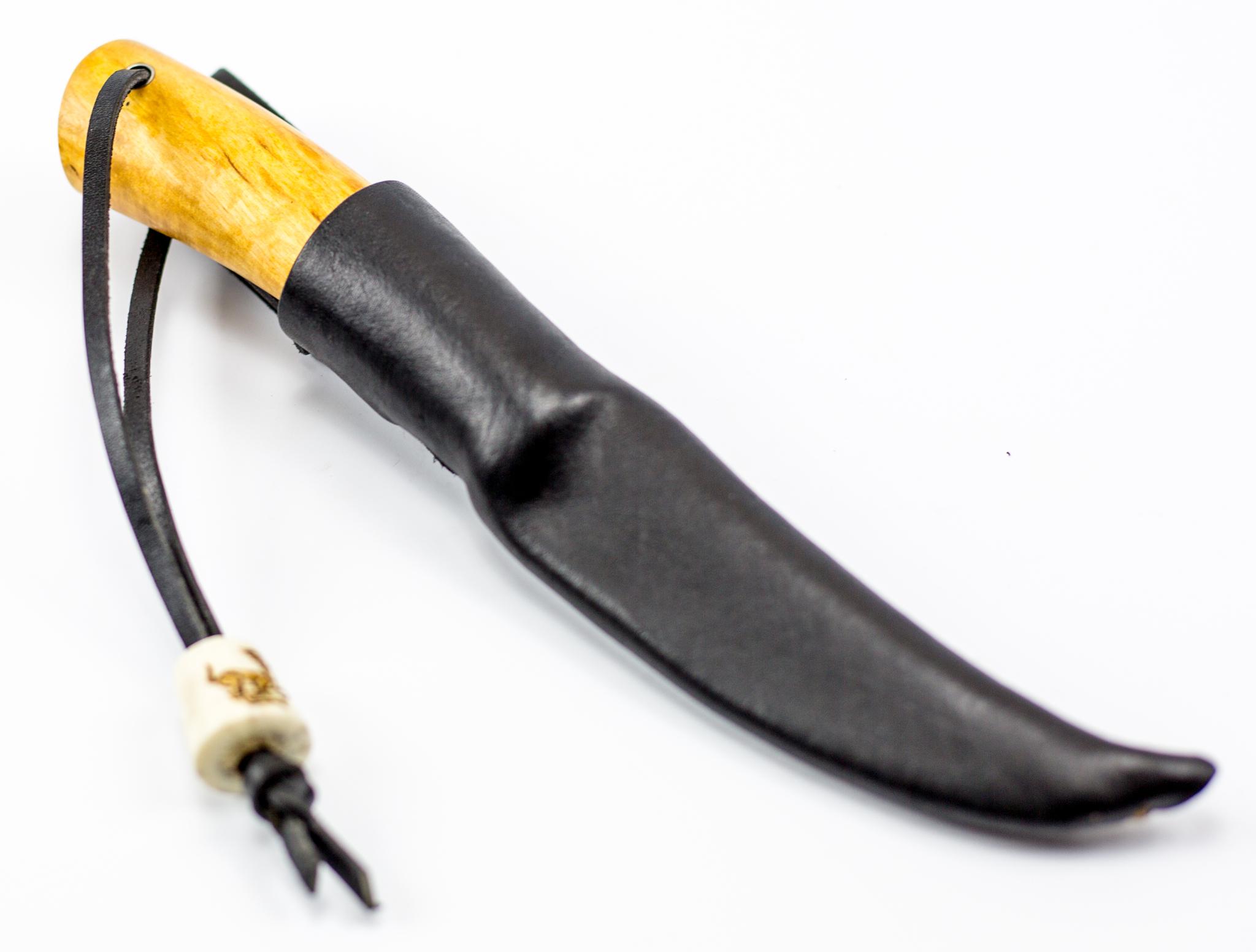 """Нож Барбус, сталь Х12Ф1, карельская береза, рог оленя, скрим-шоу от Магазин ножей """"Ножиков"""""""
