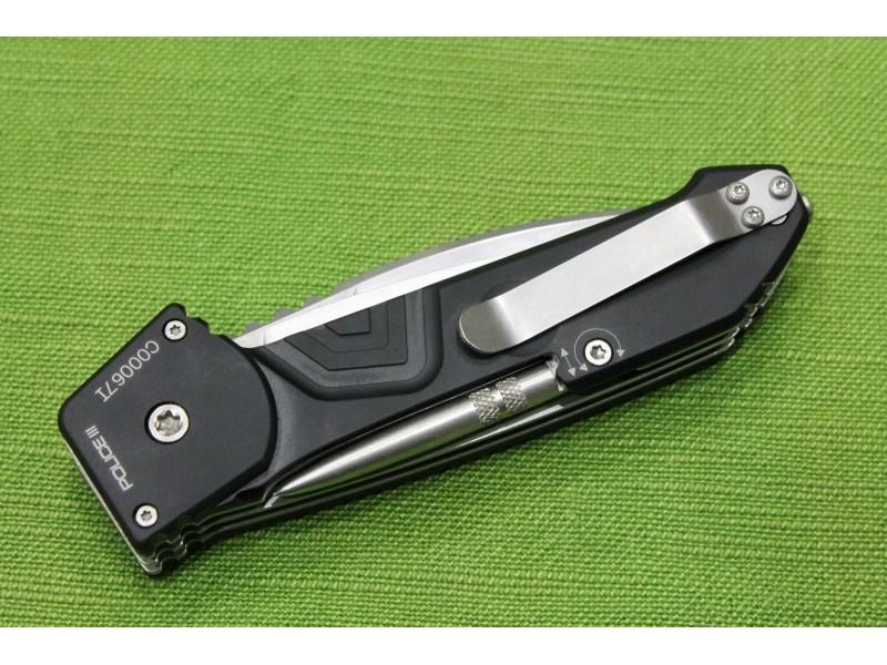 Фото 5 - Многофункциональный складной нож с выкидным стропорезом Extrema Ratio Police III, сталь Bhler N690, рукоять алюминий