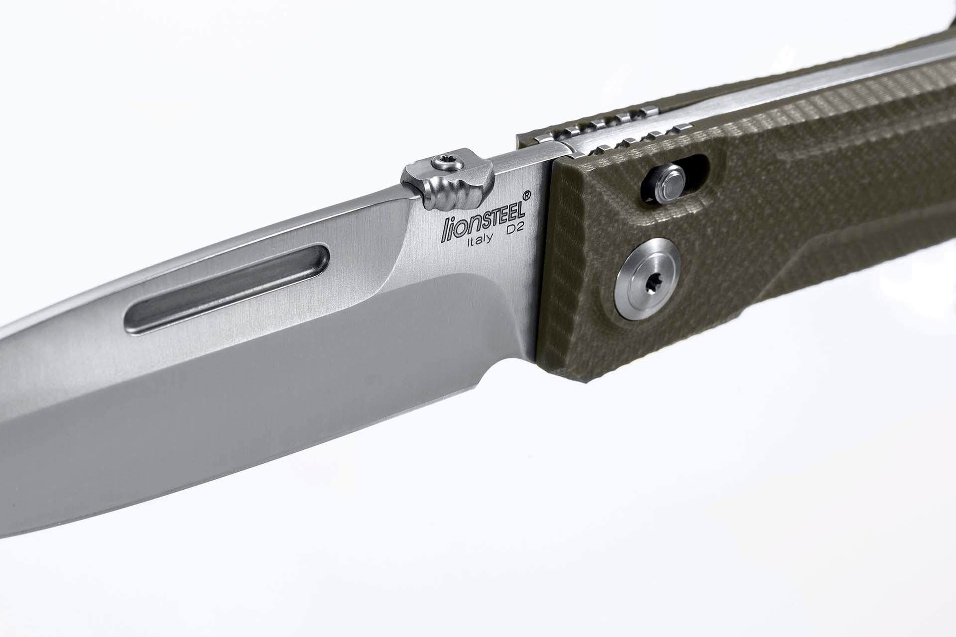 Фото 2 - Складной нож Lionsteel Big Daghetta G10, зелёный от Lion Steel