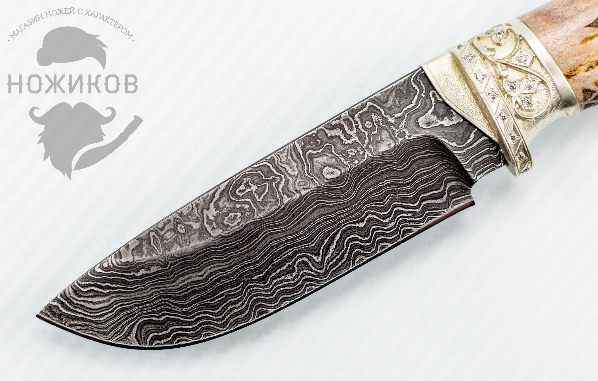 Фото 3 - Авторский Нож из Дамаска №83, Кизляр от Noname