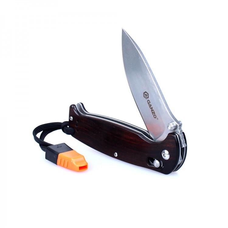 Складной нож Ganzo G7412-WD2- WSКаталог<br>Производитель<br>Ganzo<br><br><br>Бренд<br>Ganzo<br><br><br>Вид ножа<br>карманный, туристический<br><br><br>Тип<br>складной<br><br><br>Тип замка<br>Axis lock<br><br><br>Тип заточки<br>прямой<br><br><br>Цвет клинка<br>серый<br><br><br>Длина клинка, мм<br>89<br><br><br>Сталь клинка<br>440C (+-58 HRC)<br><br><br>Общая длина, мм<br>205<br><br><br>Толщина клинка, мм<br>3,3<br><br><br>Вес, г<br>130<br><br><br>Материал рукоятки<br>дерево<br><br><br>Цвет рукоятки<br>коричневый<br>