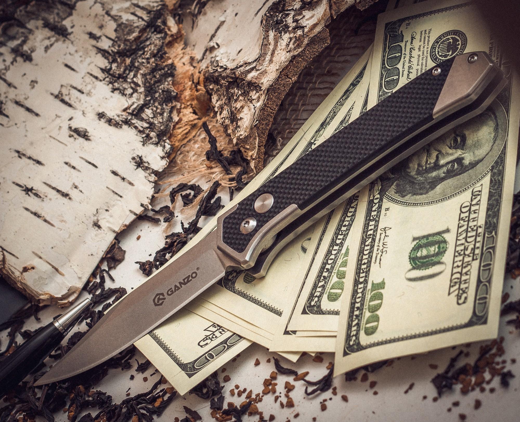 """Нож Ganzo G719 черный от Магазин ножей """"Ножиков"""""""