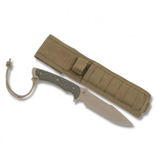 Фото 2 - Нож с фиксированным клинком Horkos (Flat Dark Earth/Green Micarta/Coyote Tan Sheath) 14.5 см. от Spartan Blades