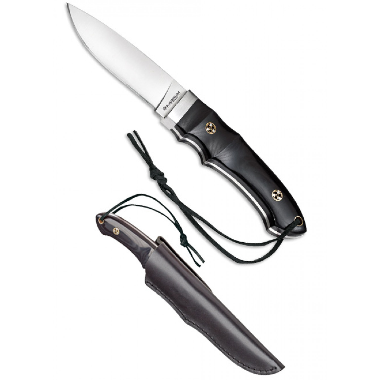 Фото 2 - Нож с фиксированным клинком Magnum Trail - Boker 02SC099, сталь 440A Satin, рукоять микарта, чёрный