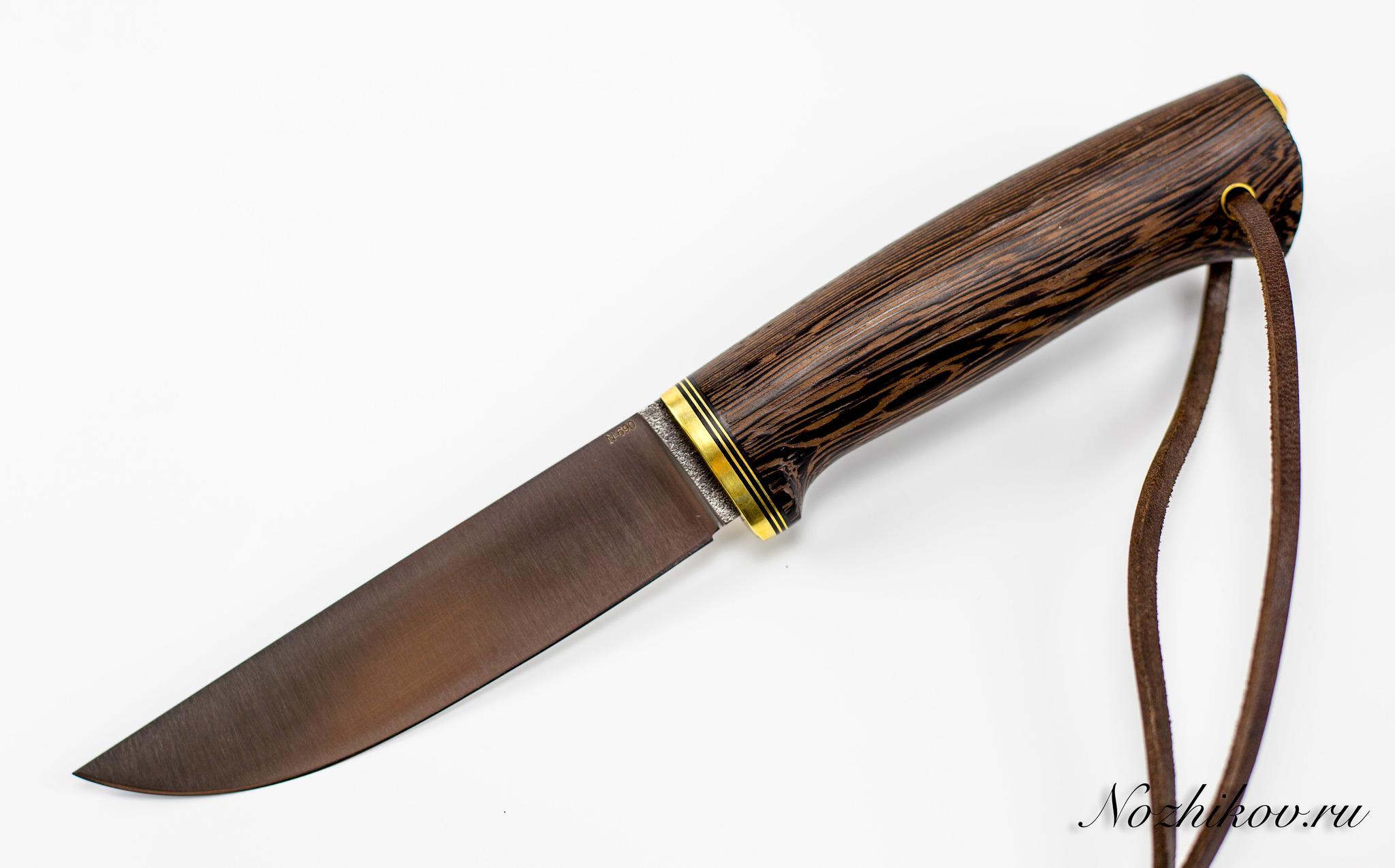 Нож Лиман, сталь N-690, венге, цельный хвостовик