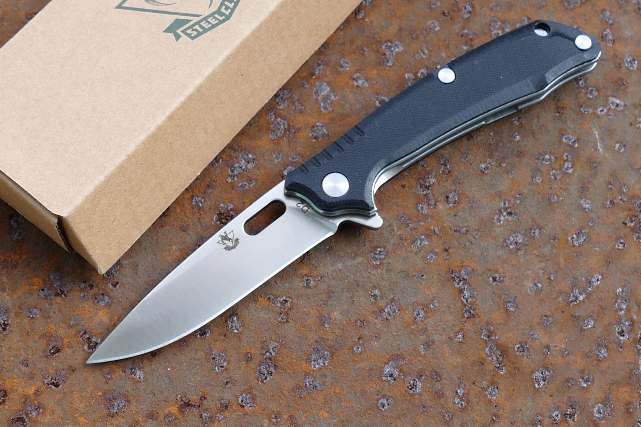 Складной нож T03FРаскладные ножи<br>марка стали: D2длина общая: 177ммдлина клинка: 80ммширина клинка наибольшая: 21ммтолщина обуха: 3ммподшипниквес: 100гртип замка:liner lock<br>