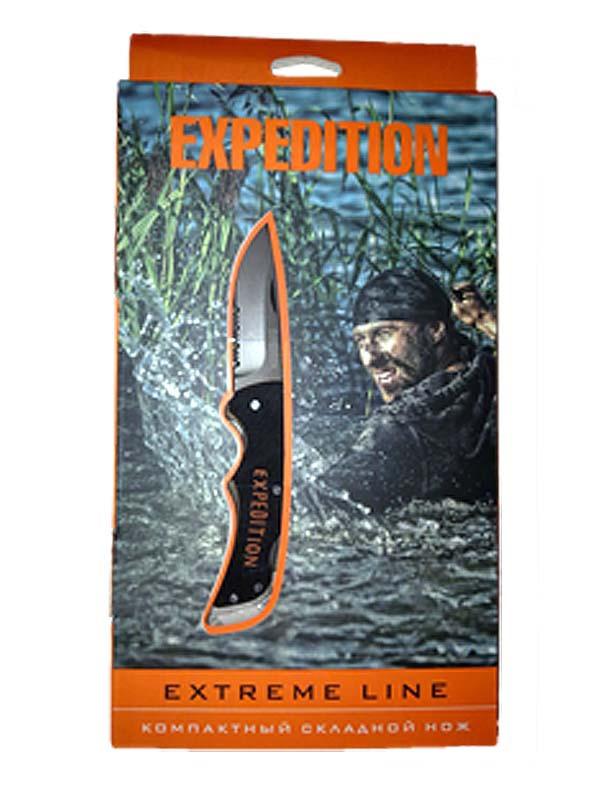 Нож ExtremeРаскладные ножи<br>Для всех любителей экстремальных путешествий предлагаем компактный складной нож Extreme line. Удобный, многофункциональный, стильный – он пригодится любому мужчине. Изготовлен из нержавеющей стали высочайшего качества, он очень удобен в эксплуатации. В закрытом виде длинна ножа составляет 84,3 мм, что позволит носить его с собой с максимальным комфортом.<br><br>Отличительные черты:<br>- компактный размер;<br>- оригинальное исполнение;<br>- наличие прикольной упаковки.<br><br>Приобретайте скорее, количество ножей ограничено!<br>