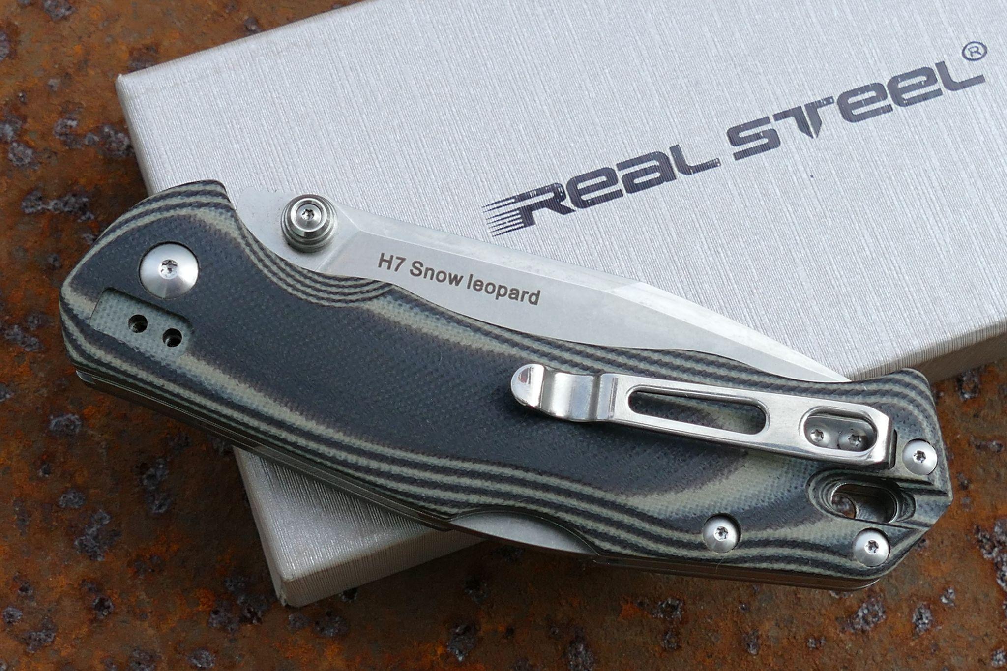 Фото 4 - Нож складной H7 Snow Leopard, Black/Gray G10 от Realsteel