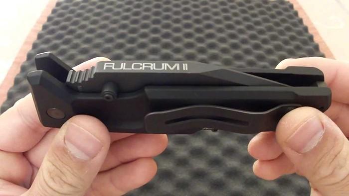 Фото 2 - Складной нож Extrema Ratio Fulcrum II Tanto Black, сталь Bhler N690, рукоять алюминий