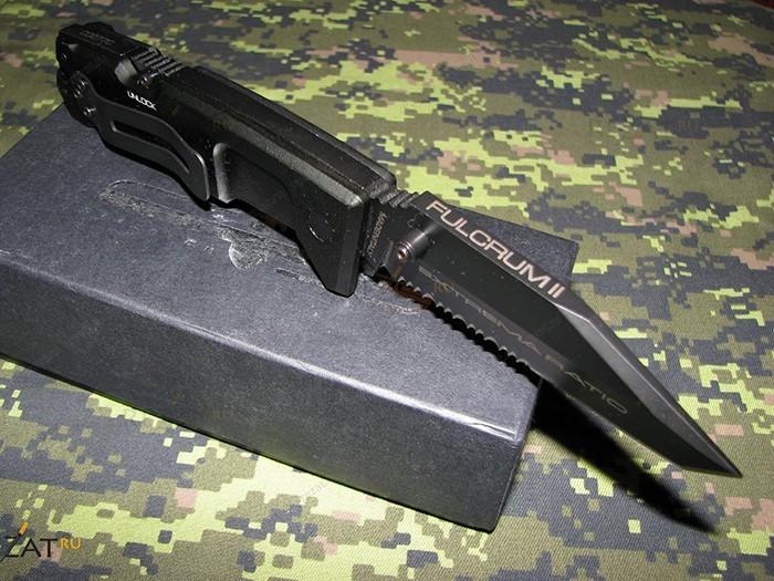 Фото 3 - Складной нож Extrema Ratio Fulcrum II Tanto Black, сталь Bhler N690, рукоять алюминий