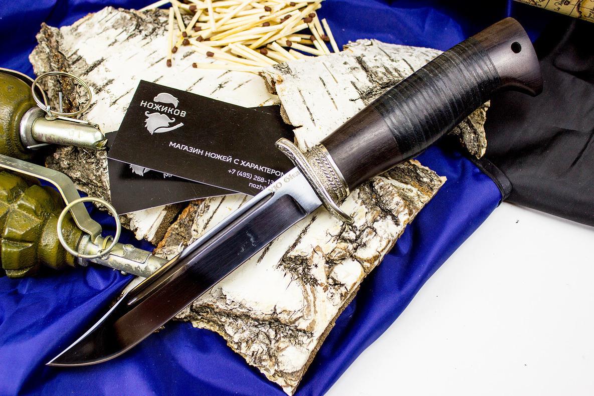 Туристический нож Штрафбат, граб, сталь У10 от Кузница Коваль