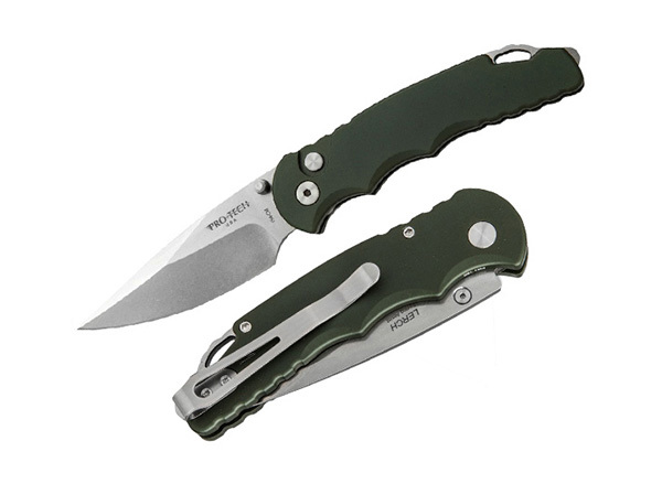 Полуавтоматический складной нож TR-5 Matthew Lerch Spring Assisted, Stonewash Blade, Green Handle