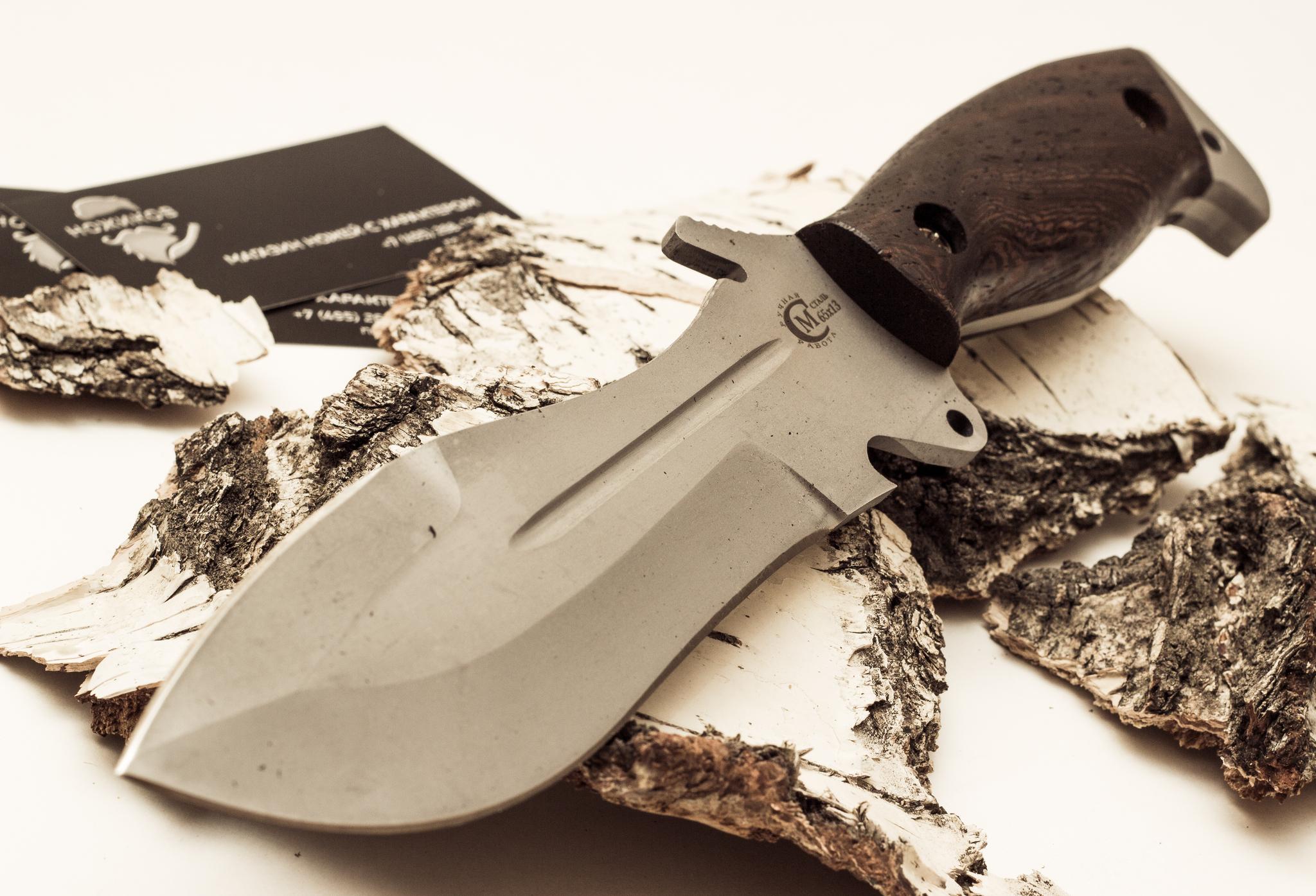Фото 8 - Нож для выживания «Кобра» из нержавеющей стали 65х13 от Кузница Семина