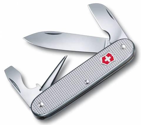 Нож перочинный Victorinox Alox 0.6221.26 58 мм 5 функций алюминиевая рукоять серебристый - Nozhikov.ru