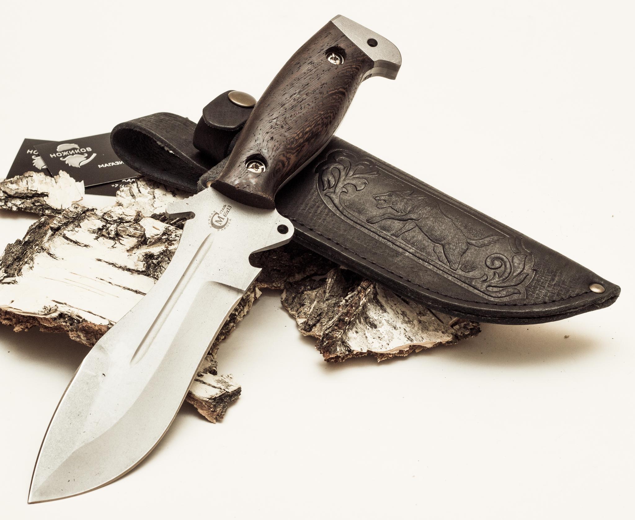 Фото 5 - Нож для выживания «Кобра» из нержавеющей стали 65х13 от Кузница Семина