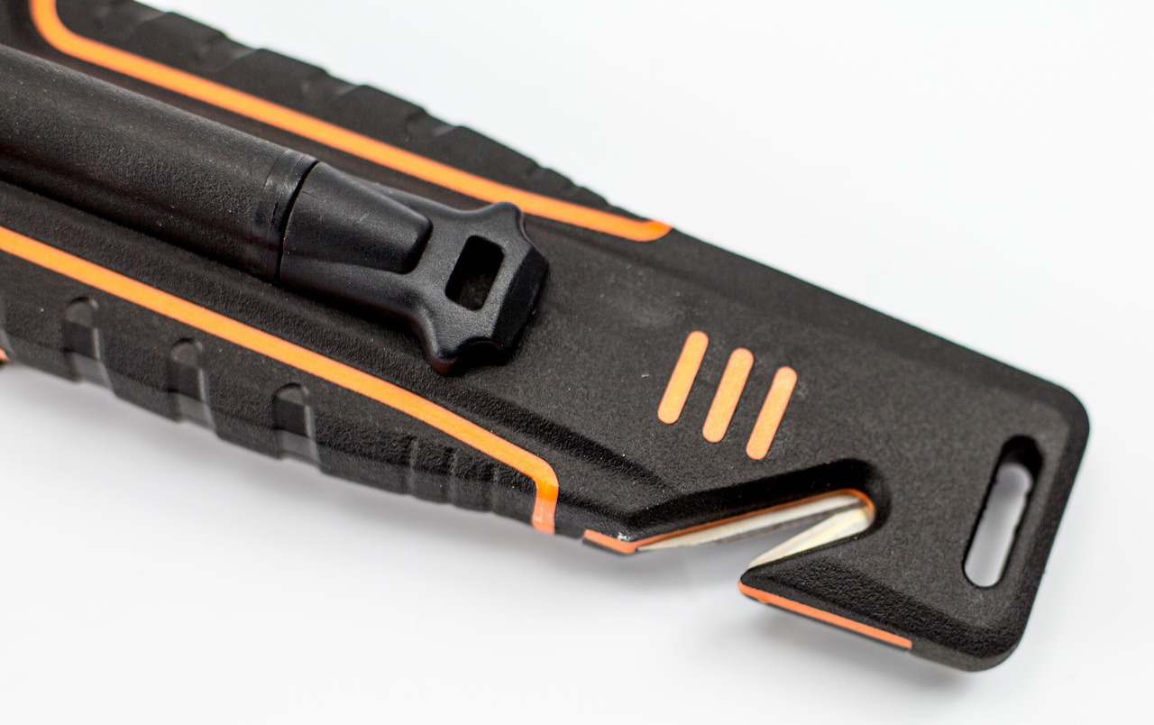 Фото 5 - Нож для выживания с огнивом и точилкой Ganzo G8012, черно-оранжевый